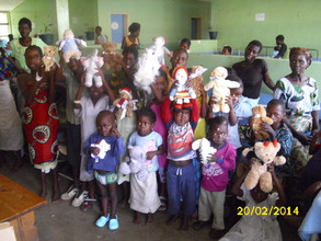 Toys for patients from a corporate supporter