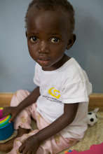 A young child cancer patient at the QECH