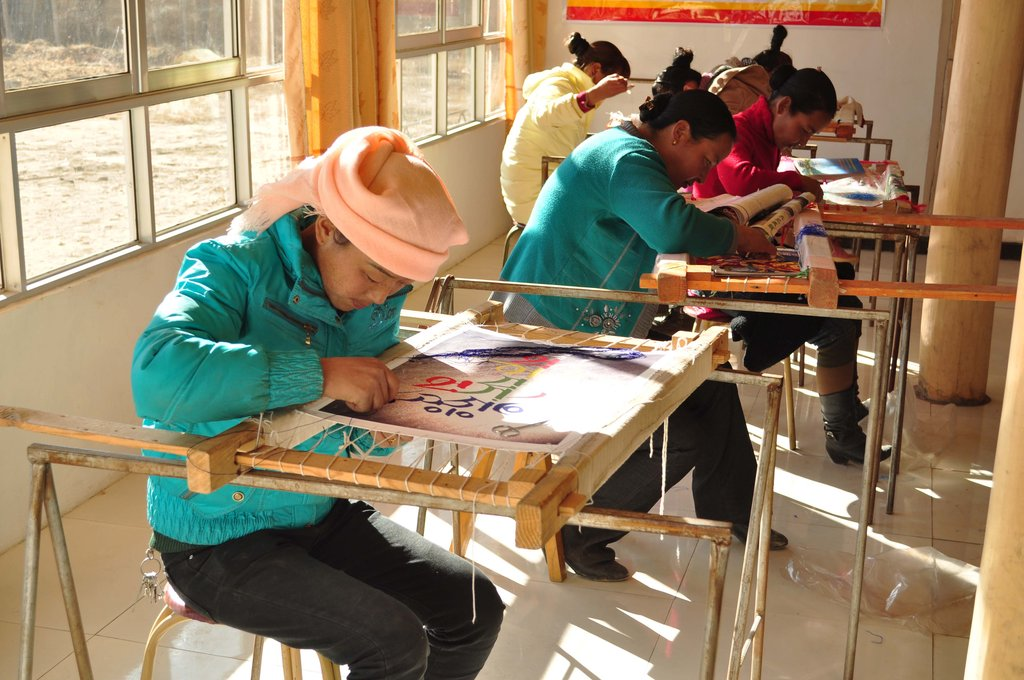 Women Working on Embroideries
