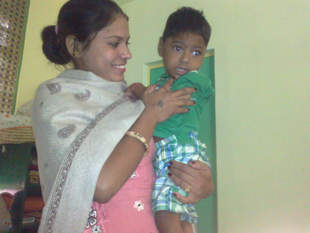 Hopeful Mother with Dev