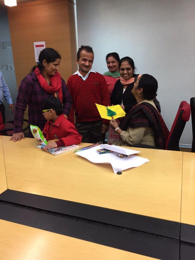 Card presented to Ms. Geeta Jain