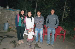 Donya and Yeshi with our team in Humla.