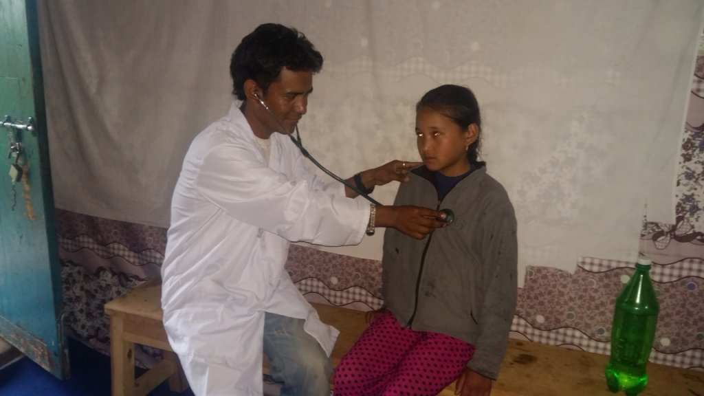 Government health worker Prajit.