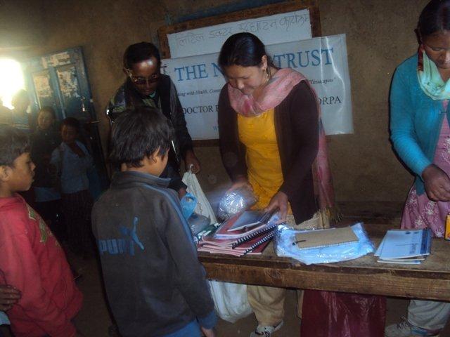 Receiving course materials.