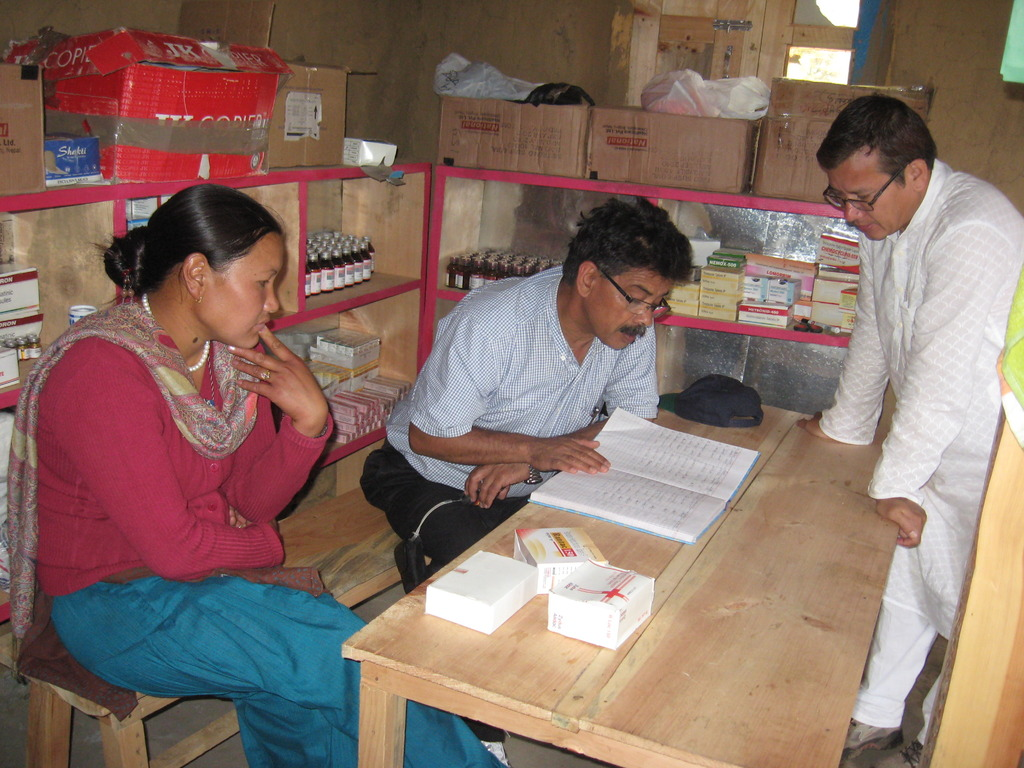 Ministry officials checking clinic health records