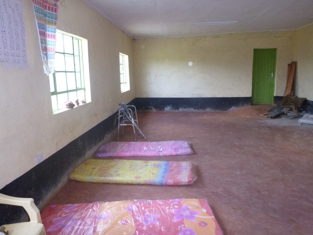 Athi treatment room is very sparsely furnished