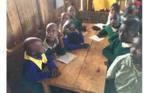Children learning at Irindirho School
