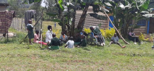 Learning outside at Irindiro Special School