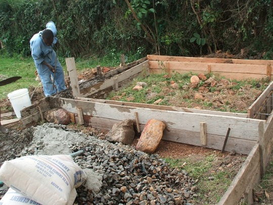 Foundations for the Planer house