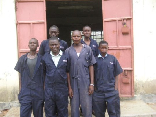 Several of the Trainees with trainer Paul