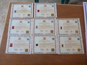 Government certificates of achievement