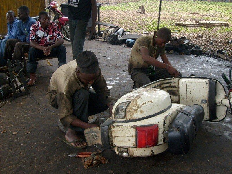 building up skilled jobs like motorcyle repair
