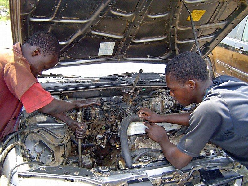 Car Mechanics at work