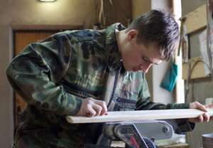 Still creating woodwork at 17 years old