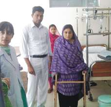 Najma after one hip replacement surgery