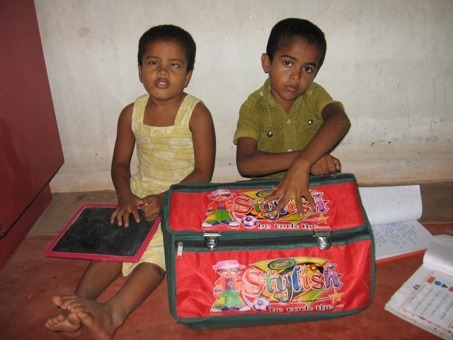 Subashinini with her brother