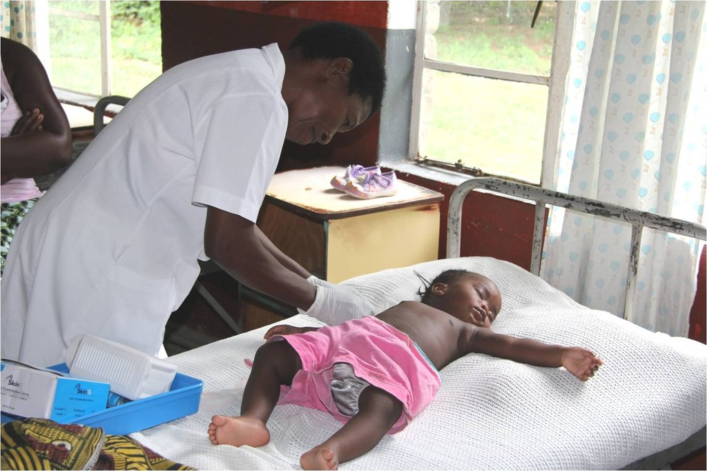 Baby with malaria