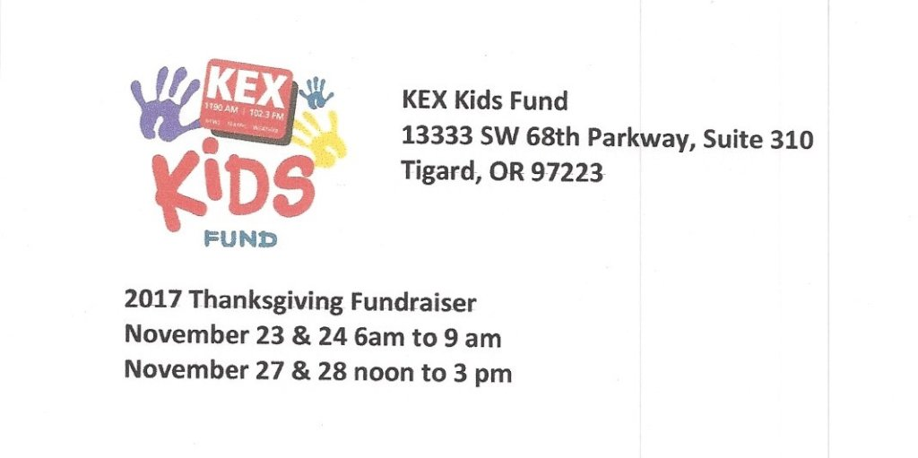2017 Thanksgiving Fundraiser Details