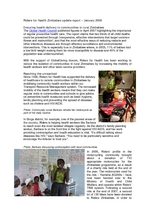 Riders Zimbabwe Update, January 2008 (PDF)