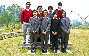 Our 7 Scholars plus their Ama Ghar sister, Manesha