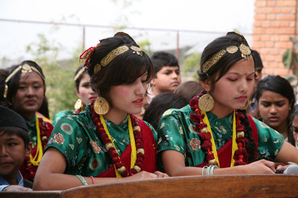 Laxmi & Manesha emceed the Grand Opening