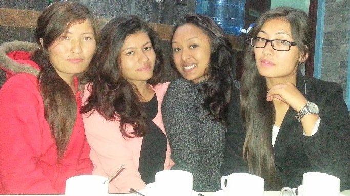 Kalpana P, Laxmi, Kalpana T, Pabitra in Pokhara