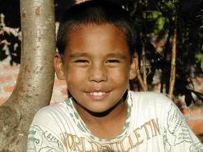 Sajan at 10 years old - a new boy at Ama Ghar