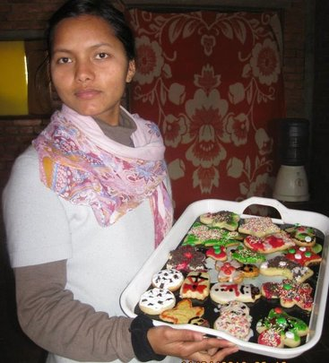 Manisha shows off her baking skills