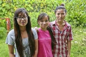Pabitra, Krishana and Kalpana - our future nurses.