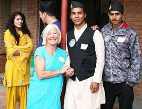 Sajan and guests at Ama Ghar's opening gala
