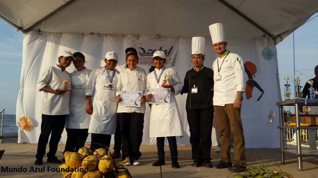 Receiving the prize, 2nd & 3rd place