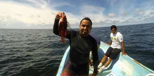 Fishers and authorities jointly catching lionfish