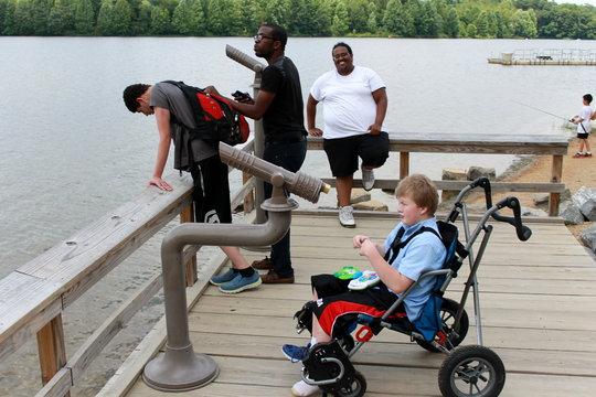 Enjoying a summer afternoon at the lake