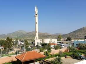 The Mosque's double minarets signify peace