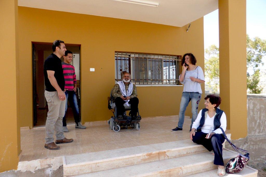 Porch talk with Mayor Haj Sami, Sadiq, visitors