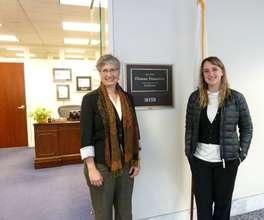 Morgan and I outside Sen. Feinstein's office