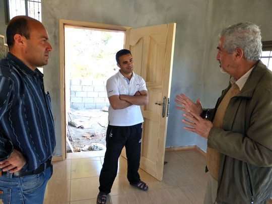 RA Adviser Ghassan, with homeowners Othman & Sadeq