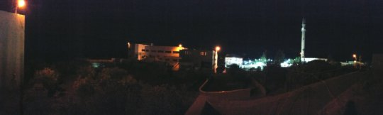 Panorama of the Kindergarten Bldg & Park at night