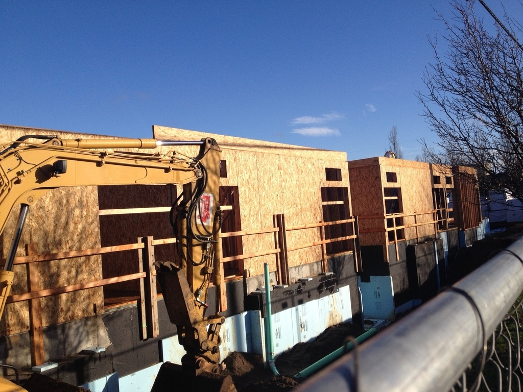 The walls are going up!