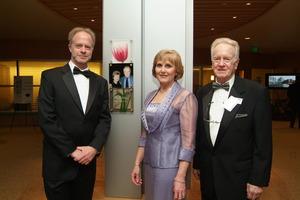 Bill Moore (right) at Cancer Center Dedication
