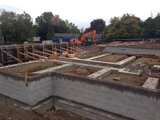 Guest Housing Foundation Walls