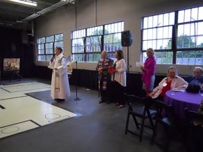 Fr. Jon Buffington offers a blessing