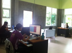 Our staff hard at work in their new office!