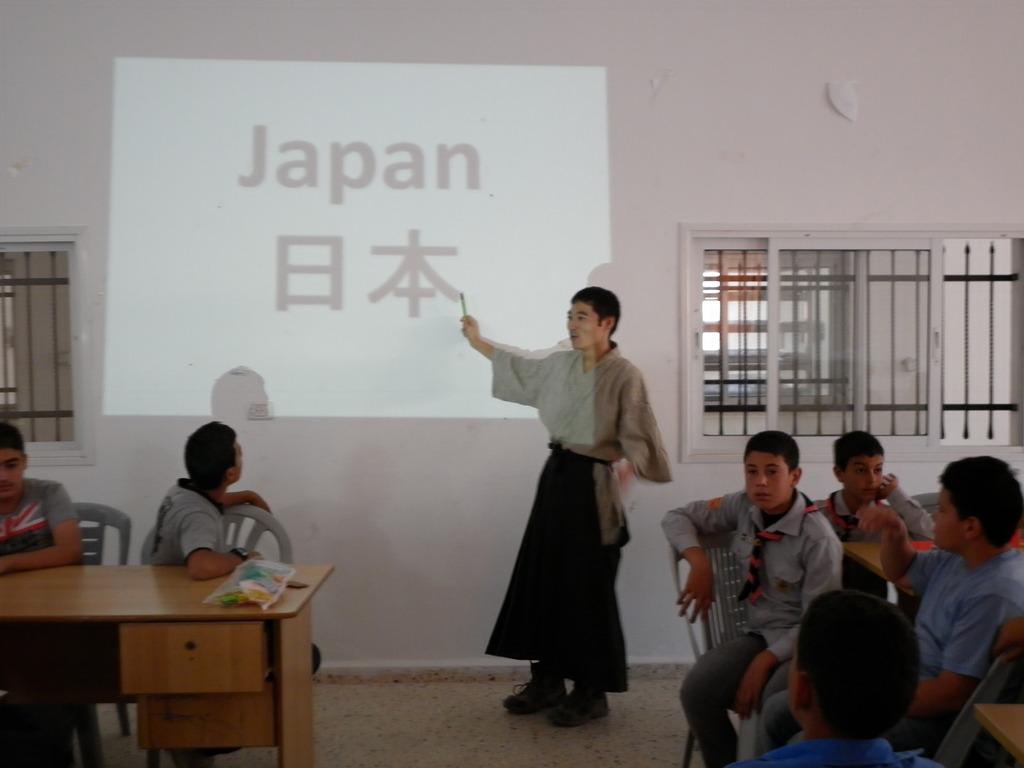 Yuhki Ohnogi, a visiting teacher from Japan