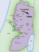 Map showing location of Al Aqaba Village