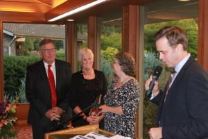 KEX Kids Fund receiving award from Dr. Eric Jones