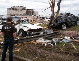 Aftermath of Tornado in Joplin, MO