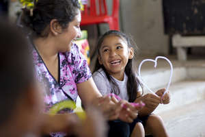 A mission volunteer talks about God's love