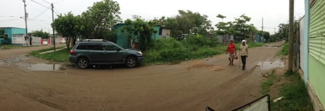 Slums across the street from clinic