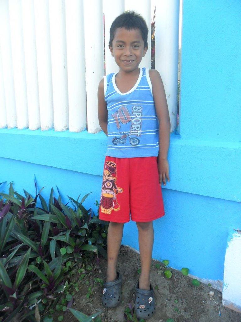 Boy awaiting a child sponsor